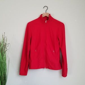 LUCY Red Full Zip Athletic Running Tech Jacket